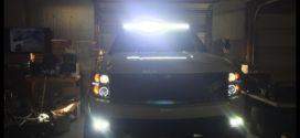 Đèn nóc xe bán tải: Tăng cường sáng tuyệt vời cho xe Ford Ranger 2018 khi đi vào ban đêm