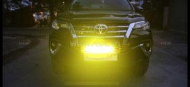 Đèn led phá sương mù có mức độ sáng cỡ nào và chiếu sáng được khoảng bao xa khi lắp cho xe oto Ford Ranger 2018 2019?